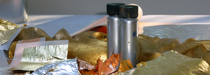 Bronze powders and metal leaf